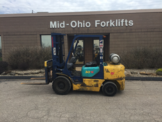 Forklift Parked In Front of Mid-Ohio Forklifts